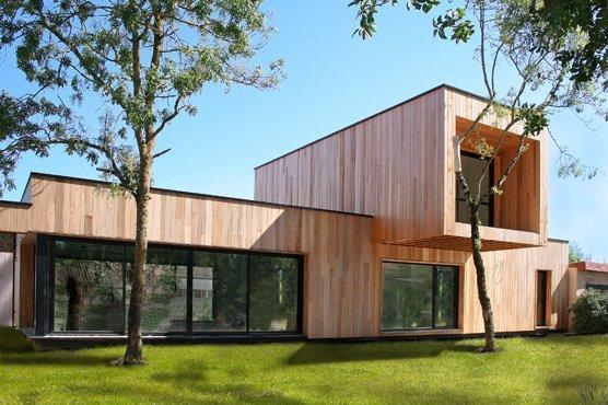 Ossature de bois maison